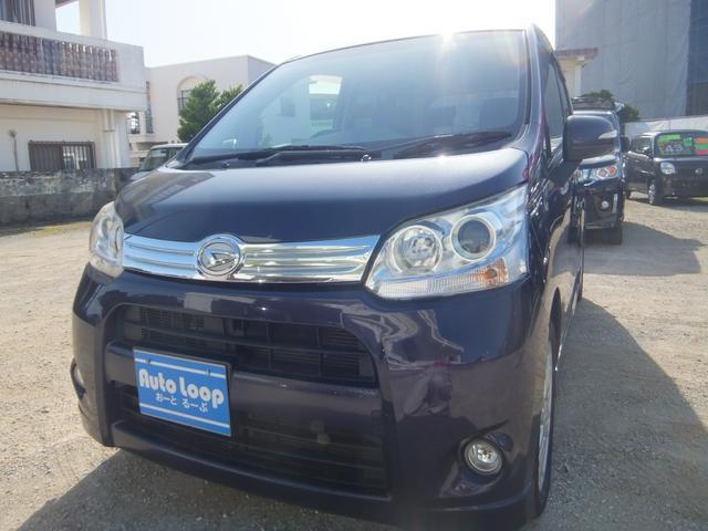 沖縄の中古車 ダイハツ ムーヴ 車両価格 37万円 リ済込 2012(平成24)年 10.5万km ダークブルーM