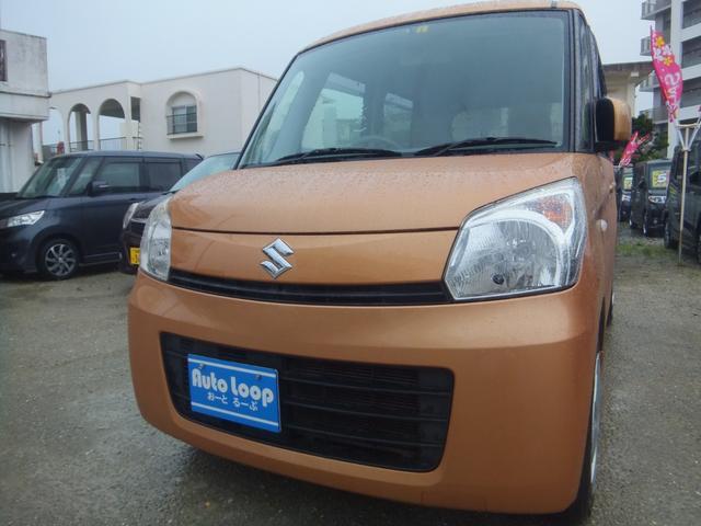 沖縄の中古車 スズキ スペーシア 車両価格 45万円 リ済込 2013(平成25)年 10.2万km オレンジM