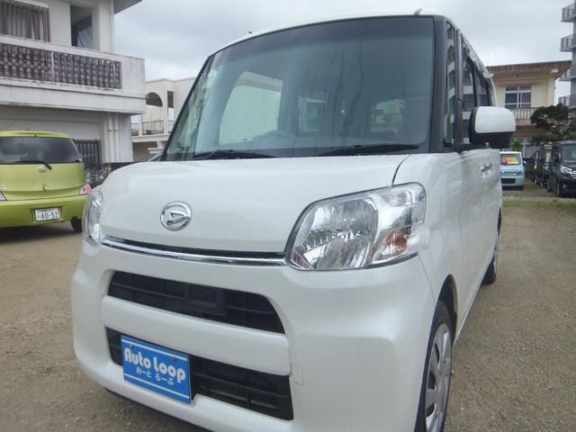 沖縄県の中古車ならタント X スマートセレクションSA 左パワースライドドア スマートアシスト 本土車 テレビナビ ブルートゥース