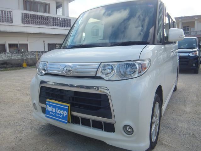 沖縄県の中古車ならタント カスタムX 左パワースライドドア テレビナビ ブルートゥース 本土車 アイドリングストップ