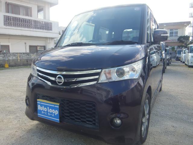 沖縄県の中古車ならルークス ハイウェイスター 左パワースライドドア テレビナビ ブルートゥース 本土車