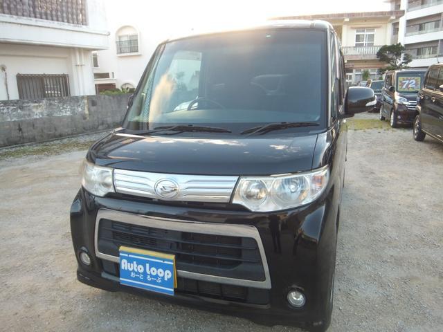 沖縄県の中古車ならタント カスタムX テレビナビ ブルートゥース バックカメラ 本土車 パワースライドドア