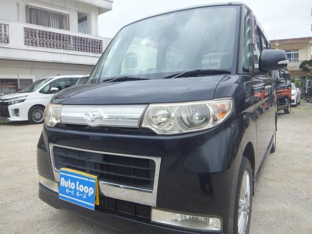 沖縄県の中古車ならタント カスタムXリミテッド 左パワースライドドア テレビナビ ブルートゥース 本土車