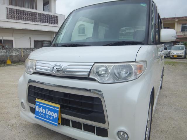 沖縄県の中古車ならタント カスタムRS 左パワースライドドア テレビナビ ブルートゥース 本土車 ターボ車