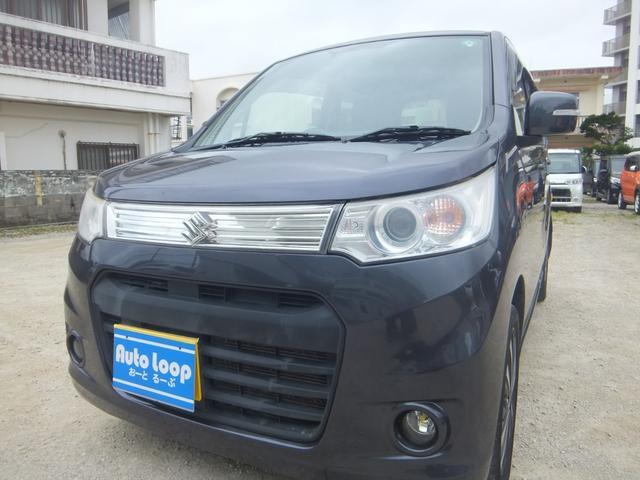 沖縄の中古車 スズキ ワゴンRスティングレー 車両価格 50万円 リ済込 2013(平成25)年 10.4万km グレーM