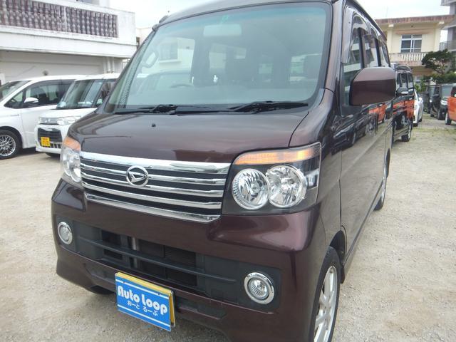 沖縄の中古車 ダイハツ アトレーワゴン 車両価格 57万円 リ済込 2012(平成24)年 10.5万km ブラウンM