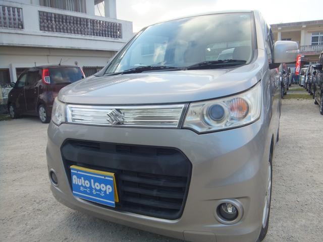 沖縄県の中古車ならワゴンRスティングレー X テレビナビ ブルートゥース エネチャージ 本土車