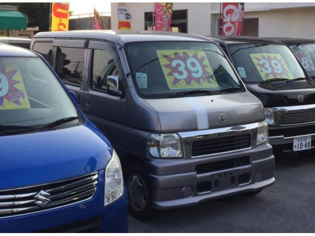 沖縄の中古車 ホンダ バモス 車両価格 25万円 リ済込 平成13年 8.1万km シルバーM