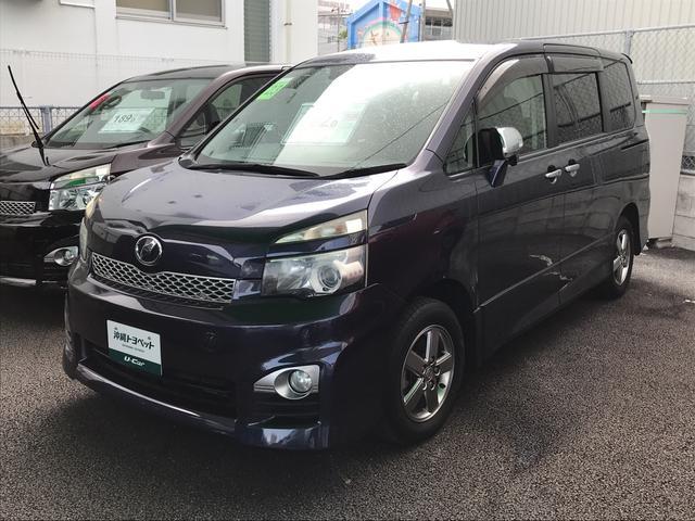 沖縄の中古車 トヨタ ヴォクシー 車両価格 162万円 リ済別 平成23年 5.0万km ダークブルー