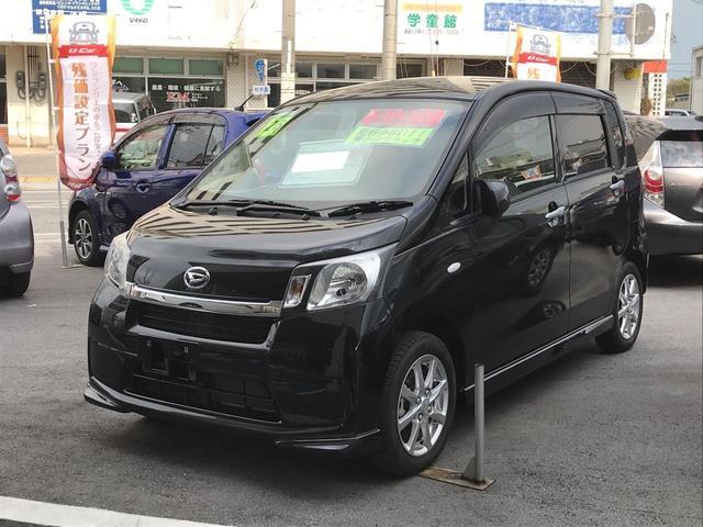 沖縄の中古車 ダイハツ ムーヴ 車両価格 78万円 リ済別 2014(平成26)年 1.4万km ブラック