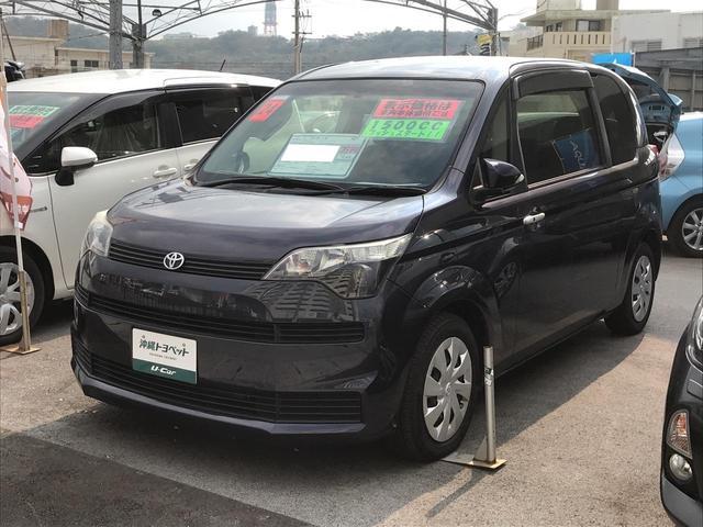 沖縄の中古車 トヨタ スペイド 車両価格 78万円 リ済別 2012(平成24)年 4.3万km 紺