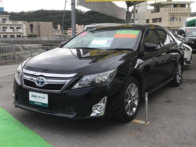 沖縄県の中古車ならカムリ ハイブリッド Gパッケージ・プレミアムブラック ナビTV