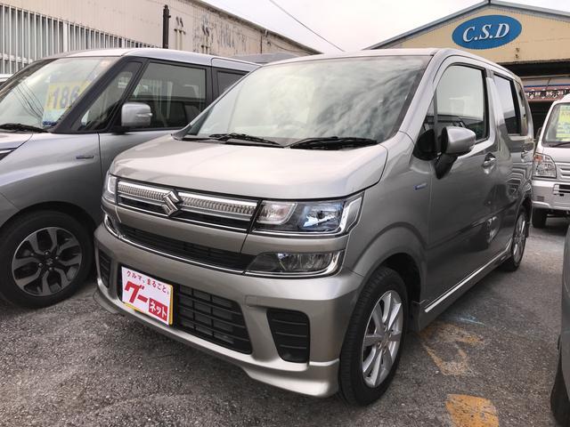沖縄の中古車 スズキ ワゴンR 車両価格 114万円 リ済込 平成29年 2.0万km グレー