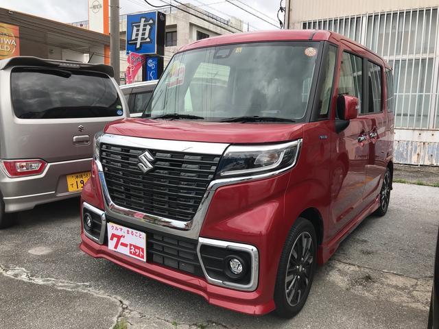 沖縄の中古車 スズキ スペーシアカスタム 車両価格 155万円 リ済込 平成29年 1.6万km レッド