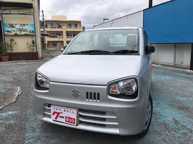 沖縄の中古車 スズキ アルト 車両価格 63万円 リ済込 平成29年 0.8万km シルバー