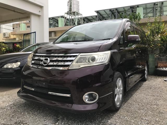 沖縄の中古車 日産 セレナ 車両価格 42万円 リ済込 平成22年 14.8万km ディープカシスP