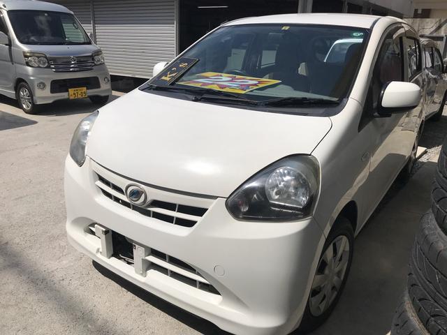 沖縄の中古車 ダイハツ ミライース 車両価格 22万円 リ済込 2012(平成24)年 10.6万km ホワイト