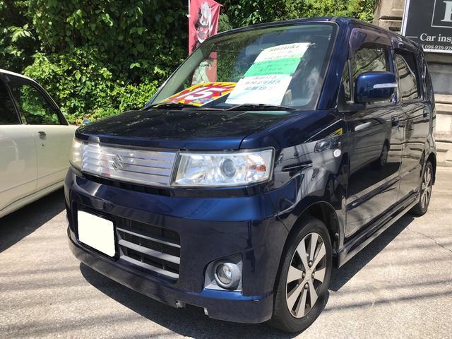 沖縄の中古車 スズキ ワゴンR 車両価格 15万円 リ済込 2008(平成20)年 15.4万km ブルーM