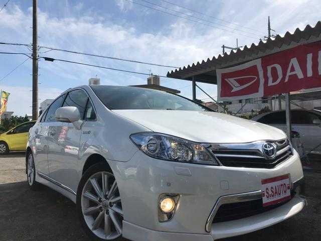 沖縄の中古車 トヨタ SAI 車両価格 124万円 リ済込 2012(平成24)年 6.2万km パールホワイト