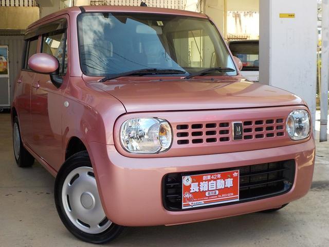 沖縄の中古車 スズキ アルトラパン 車両価格 44万円 リ済込 2010(平成22)年 10.4万km ピンクM