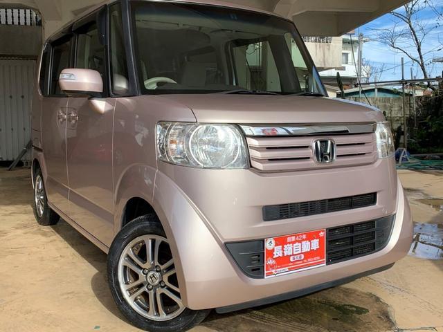 沖縄の中古車 ホンダ N-BOX 車両価格 73万円 リ済込 2013(平成25)年 5.0万km ピンクM