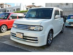 沖縄の中古車 日産 キューブ 車両価格 36万円 リ済込 平成20年 10.7万K パールホワイト