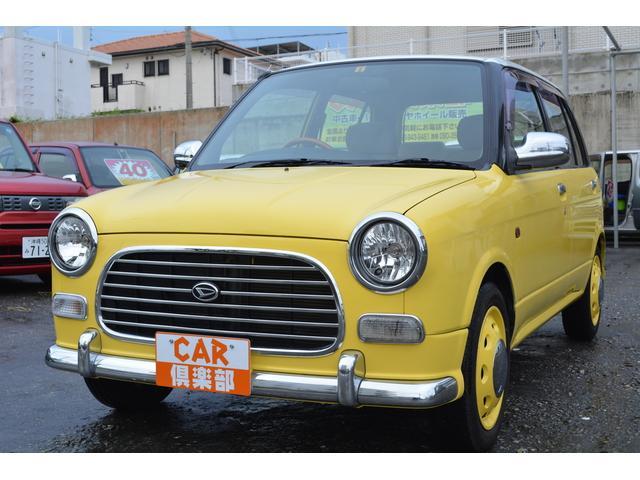沖縄の中古車 ダイハツ ミラジーノ 車両価格 49万円 リ済込 平成14年 4.3万km イエロー/ホワイト2トン