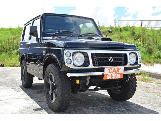 沖縄県島尻郡南風原町の中古車ならジムニー ワイルドウインド ブラックに色替え・社外F/Rバンパー・本土中古車