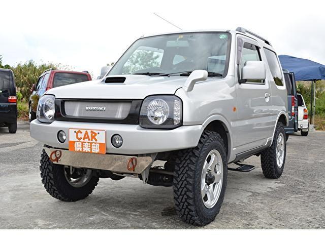 沖縄県の中古車ならジムニー XC リフトアップ・タイヤ新品交換・社外ナビ・DVD/CD・フルセグTV・ドライブレコーダー・社外ヘッドライト・テールランプ・社外前後バンパー社外マフラー・調整ショクアブソ-バ-・スプリング