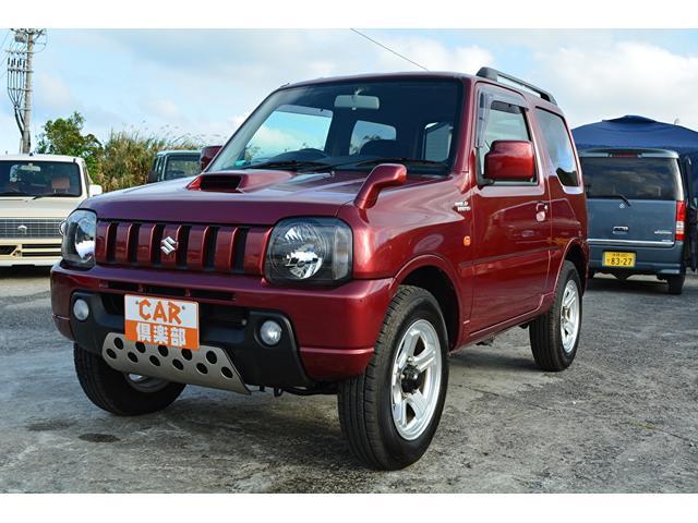 沖縄の中古車 スズキ ジムニー 車両価格 75万円 リ済込 2008(平成20)年 9.3万km ワインレッド