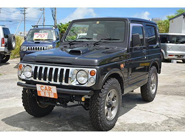 沖縄の中古車 スズキ ジムニー 車両価格 78万円 リ済込 1997(平成9)年 16.2万km チャコールブラック