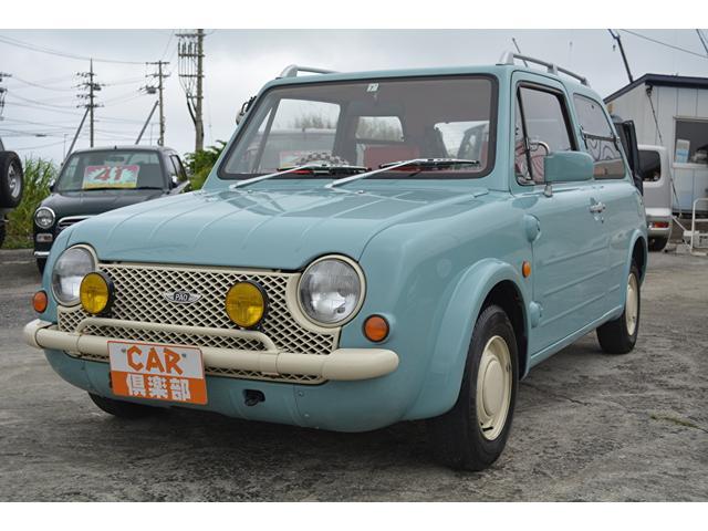 沖縄の中古車 日産 パオ 車両価格 85万円 リ済込 2019(令和1)年 12.1万km Lブルー