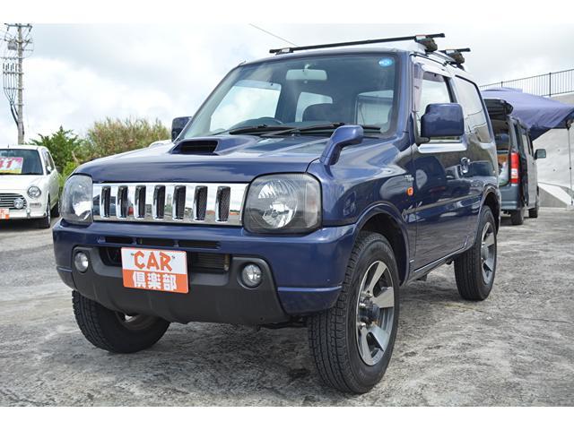 沖縄の中古車 スズキ ジムニー 車両価格 70万円 リ済込 2007(平成19)年 12.4万km ダークブルー