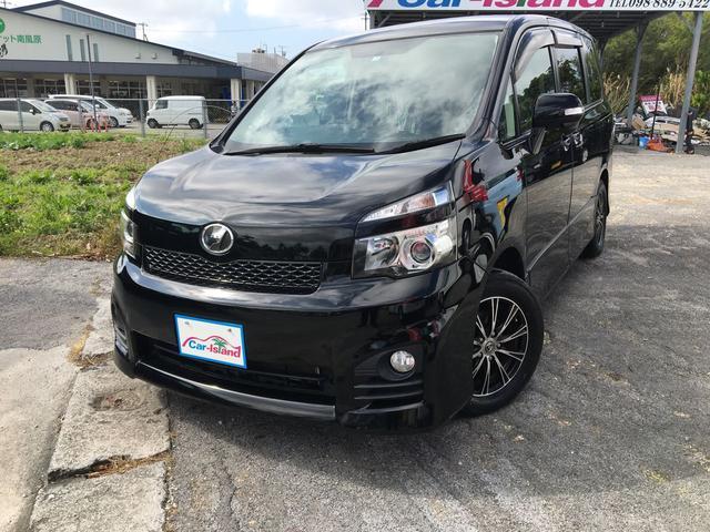 沖縄県の中古車ならヴォクシー ZS 8名乗り 新品レザーシートカバー 社外アルミ