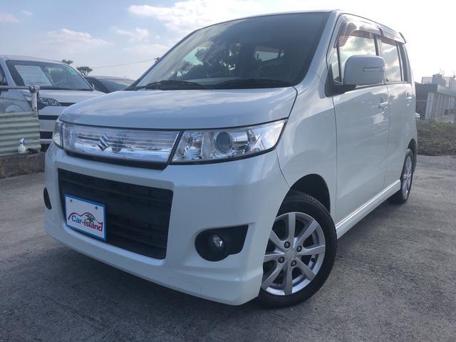 沖縄県の中古車ならワゴンRスティングレー Tターボ フルセグTV/BT付 プッシュスタート
