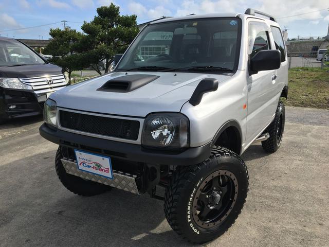 沖縄県の中古車ならジムニー XC 3インチリフトアップ スキッドプレート サイドマフラー
