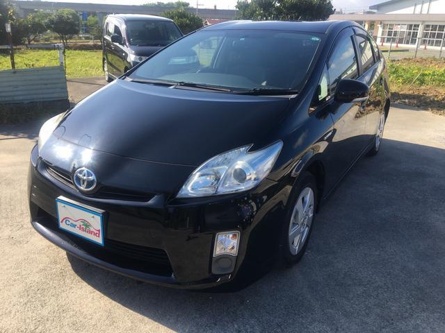沖縄の中古車 トヨタ プリウス 車両価格 82万円 リ済込 2011(平成23)年 4.2万km ブラック