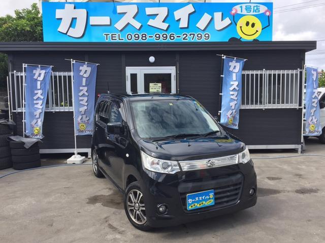 沖縄の中古車 スズキ ワゴンRスティングレー 車両価格 39.9万円 リ済込 2013(平成25)年 11.1万km ブルーイッシュブラックパール3