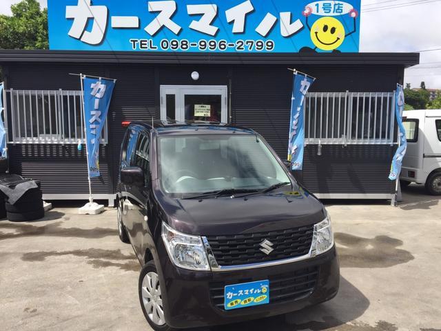 沖縄の中古車 スズキ ワゴンR 車両価格 52.8万円 リ済込 2015(平成27)年 7.4万km ブラウン