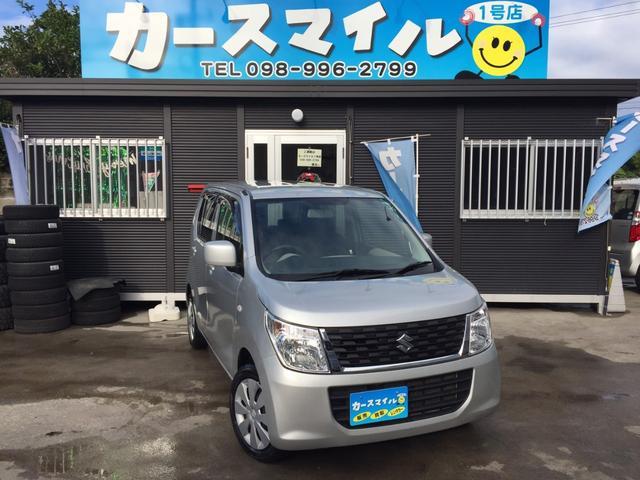 沖縄の中古車 スズキ ワゴンR 車両価格 39.8万円 リ済込 2014(平成26)年 10.7万km シルバー