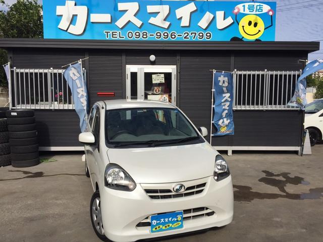 沖縄の中古車 ダイハツ ミライース 車両価格 24.9万円 リ済込 2012(平成24)年 11.6万km パールホワイト