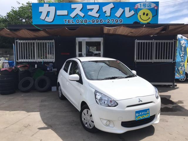 沖縄の中古車 三菱 ミラージュ 車両価格 32.8万円 リ済込 2015(平成27)年 7.2万km ホワイト