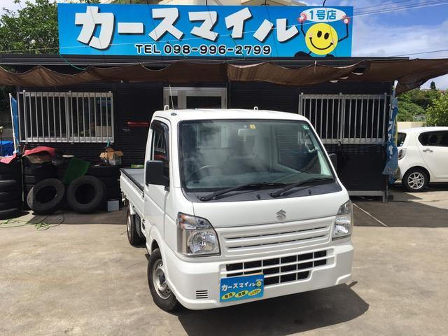 沖縄の中古車 スズキ キャリイトラック 車両価格 42.8万円 リ済込 2015(平成27)年 11.4万km ホワイト