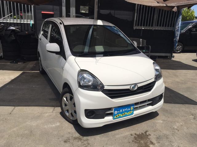 沖縄の中古車 ダイハツ ミライース 車両価格 37.8万円 リ済込 2015(平成27)年 8.6万km ホワイト