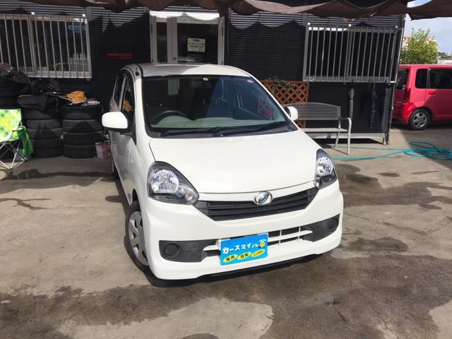 沖縄の中古車 ダイハツ ミライース 車両価格 37.8万円 リ済込 2015(平成27)年 6.6万km ホワイト