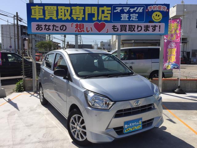 沖縄県糸満市の中古車ならミライース L SAIII 衝突被害軽減ブレーキ 新品シートカバー キーレス エコアイドル