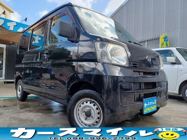 沖縄の中古車 ダイハツ ハイゼットカーゴ 車両価格 39.8万円 リ済込 2011(平成23)年 10.2万km ブラックマイカメタリック