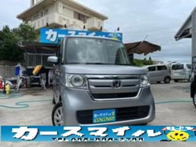 沖縄県糸満市の中古車ならN-BOX Gホンダセンシング 衝突被害軽減ブレーキ バックモニター 社外ナビ Bluetooth 本土中古車 スマートキー スペアキー