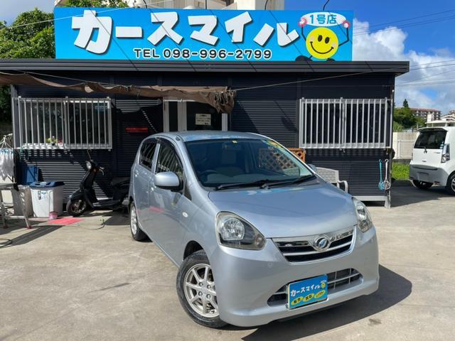 沖縄の中古車 ダイハツ ミライース 車両価格 36.8万円 リ済込 2013(平成25)年 2.2万km ブライトシルバーメタリック