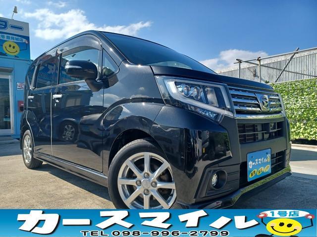 沖縄県の中古車ならムーヴ カスタム X SA 衝突被害軽減ブレーキ Bluetoothオーディオ  ナビ フルセグTV エコアイドル スマートキー スペアキー